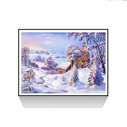 Riou DIY 5D Diamant Painting voll,Stickerei Malerei Diamant Weihnachten Bild Muster Crystal Strass Stickerei Bilder Kunst Handwerk für Home Wand Decor gemälde Kreuzstich (Mehrfarbig F, 30 * 40cm)