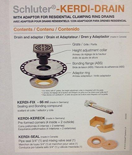 Schluter Kerdi Adaptor Drain Brushed Nickel-ABS Version by Schluter Systems - Kerdi-drain