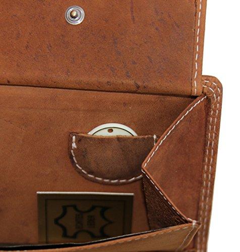 Hill Burry Leder Portmonnaie / Geldbörse (Volleder) V88802 (tan) tan