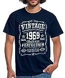 Vintage 1969 Cadeau Anniversaire 50 Ans T-Shirt Homme, 3XL, Marine