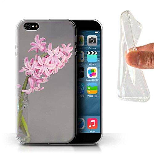 Stuff4 Gel TPU Hülle / Case für Apple iPhone X/10 / Frühlingsblumen Muster / Rosa Mode Kollektion Hyazinthe