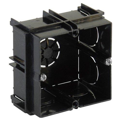 Caja empotrar. - medida: 65x65x40 mm. - 1 elemento enlazable. - color negro.