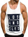 OZONEE Herren Tanktop Tank Top Tankshirt T-Shirt mit Print Unterhemden Ärmellos Weste Muskelshirt Fitness BREEZY 724