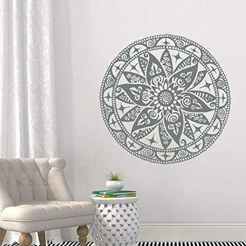 Art Pattern Mandala Applique Ristrutturazione Sticker Camera da letto Lotus Wall Decal Boemia Yoga decorativo Buddha Sticker Wall Sticker Casa e giardino disponibile in più colori A2 57x57cm