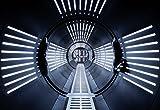 'Komar 8-455Papier peint photo en papier'Star Wars-Tunnel Taille 368x 254cm (Largeur x hauteur), 8pièces, avec, colle fabriqué en Allemagne, multicolore