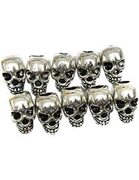 ULTNICE Totenkopf Schädel Perlen für DIY Halskette Armbänder 30 Stück