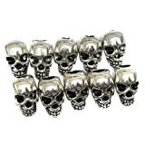 Search : ULTNICE Skull beads for DIY Necklace Bracelets and Earrings (Silver 30pcs)