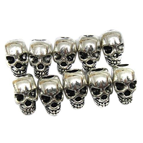ULTNICE Totenkopf Schädel Perlen für DIY Halskette Armbänder 30 (Perle Halskette)