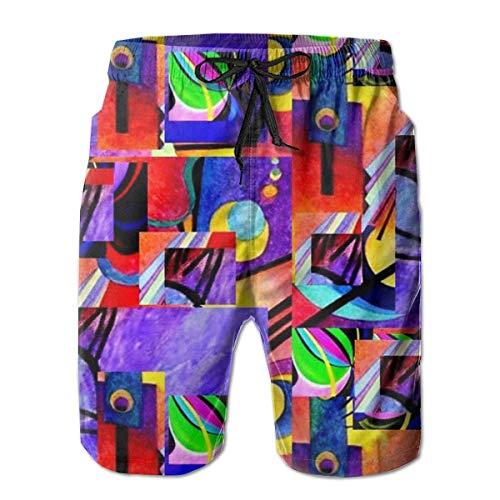 Vikimen Short de Bain Homme Maillot de Bain Relaxed Swim Trunks Big &Tall Board Shorts for Boys Mens, Quick Dry Sportwear
