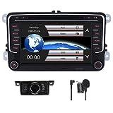 Estéreo de coche para Volksvagen VW Golf Polo Passat Jetta Tiguan Skoda Seat con reproductor de DVD GPS Navegación Video Audio FM AM Radio Bluetooth 3G USB IPS pantalla táctil capacitiva