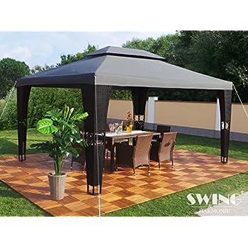 Swing Amp Harmonie Luxury Rattan Gazebo Amazon Co Uk
