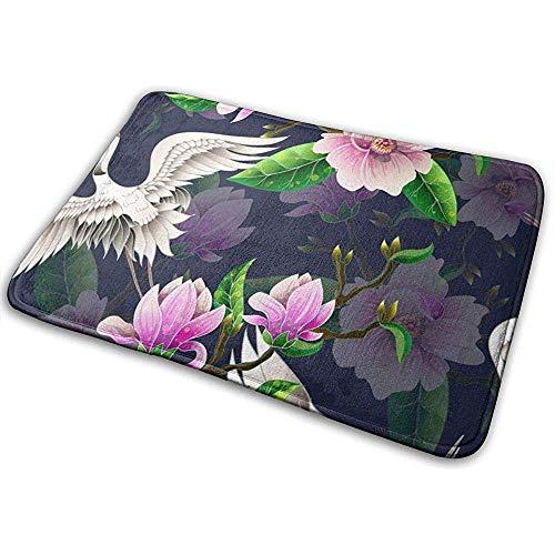 SESILY Nahtloses Muster mit Magnolien-Blumen-Tür-Matten-rutschfesten Tür-Matten-Eingangs-Teppich im Freien
