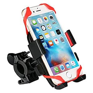"Solodrive Bike Phone Holder Handlebar Bracket Mount,Compatible With Bicycle and Motorcycle,For iPhone6s,6,5,GalaxyS6,S5,Fit Perfectly With 2.2"" to 3.3"" Width Smartphone"
