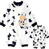 Pyjama Bébé Fille Garçon Grenouillère Combinaisons en Coton Bouton à Manches Longues Chaud Pyjama Déguisement 3-6 Mois