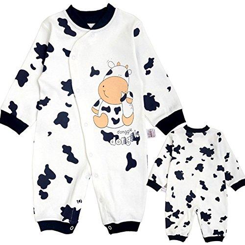 Baby Jungen Schlafstrampler Schlafanzug für Mädchen, Einteiler langarm Schlafoverall Baby-Nachtwäsche, 9-12 Monate