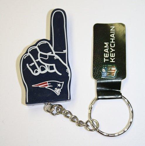 Forever Collectibles NFL New England Patriots # 1Finger Schlüsselanhänger