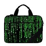 """LUXBURG® 17"""" Pulgadas Carry Bag Bolso de hombro para ordenador portátil - Código Matrix"""
