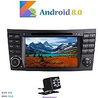 """Android 8.0 Car Autoradio, Hi-azul In-dash 2 Din 8-Core 64Bit RAM 4G ROM 32G Car Radio 7"""" Autonavigation Kopfeinheit Car Audio mit 1024 * 600 Multitouch-Bildschirm und DVD Player Moniceiver für Mercedes-Benz E-W211/E200/E220/E240/E270/E280 Unterstützen Lenkradkontrolle, RDS Radio Tuner (mit Rückfahrkamera)"""