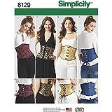 Simplicity Muster 8129Misses 'Easy Taillenmieder Korsetts Schnittmuster, weiß, Größe R5