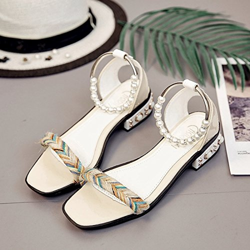 5c1b56d002845f LGK FA Summer Women S Sandals All-Match Toe With Flat Sandals Fashion 38  Lotus Color - Buy Online in Oman.