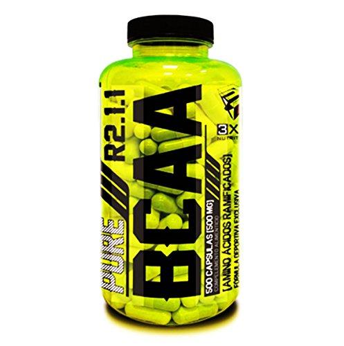 integratore di aminoacidi ramificati PURE BCAA 250 cps rapido assorbimento rapporto R2.1.1 con Vitamina B6