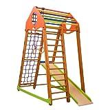 Centre d'activités pour enfants ˝Bambinowood˝ Cage à grimper, Echelle de corde, Toboggan, Espalier suédois