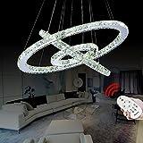VINGO® 72W Warmweiß Weiß Kaltweiß 2700-6500K 720-6480LM 3in1 Hängeleuchte Kronleuchter LED Dimmbar Hängeleuchte Wohnzimmerlampe Beleuchtung Modern energiesparend angenehmes Licht