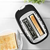 Tower Elements T20013 2-Slice Toaster with Variable Browning Control, Defrost, Reheat and Cancel Settings, Removable Crumb Tray, 750 W, Black