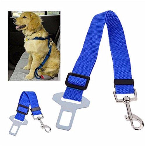 valink 1Stück PET Sicherheitsgurt Hund Verstellbare Halsbänder KFZ Hunde Sicherheitsgurt Katze Hund Träger Nylon Basic führt Gürtel Pet Zubehör (Silber-katze-kragen)
