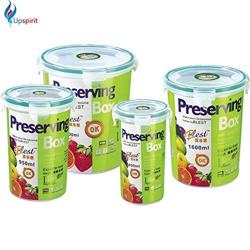 Generic Japan Style luftdicht/Wasserdicht 4Kunststoff Food Container Candy Jar/Tank PP Mikrowelle Küche rund Aufbewahrungsboxen