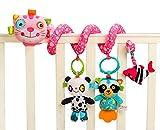 Jollybaby Baby Süß Hängenden Spirale mit Musik Sound, Activity Spiral Plüschtiere Spielzeug, Beschwichtigen Schlaf Spielzeug für Baby Süßsbett Kinderwagen - Pink