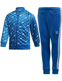 Adidas Trefoil Monogram SST Chándal, Unisex Adulto, D98863, Azul y Blanco, 128