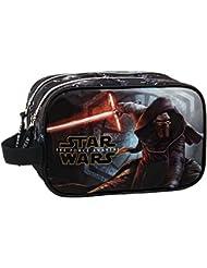 Star Wars The Force Awakens Vanity Trousse de Toilette Deux Compartiments, 24 cm, Noir