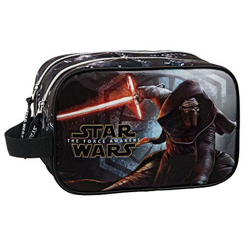 Star Wars The Force Awakens Vanity Trousse de Toilette Deux Compartiments, 24 cm, Noir