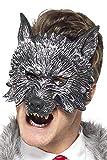 Smiffys Herren Großer Böser Wolf Maske, One Size, Grau, 20348