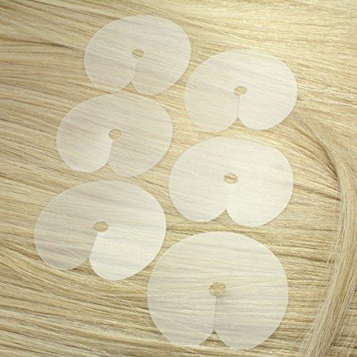 hair2heart 10 x Schablone zum Anbringen von Keratin-Extensions, 10 Stück
