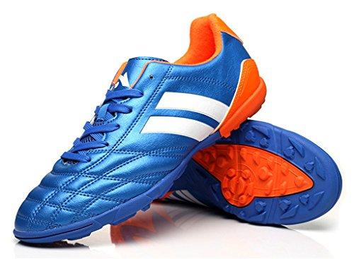 NEWZCERS scarpe da ginnastica tf calcio per le donne e gli uomini & Boys & Girls blu (22001)