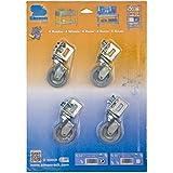 Simonrack 92209000005 - Blister de 4 ruedas pequeñas de 60 mm (8 tornillos y 8 tuercas, 40 kg)