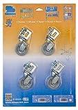 Simonrack 92209000005 Blister de 4 Ruedas pequeñas de 60 mm (8 Tornillos y 8 Tuercas, 40 kg), Galvanizado