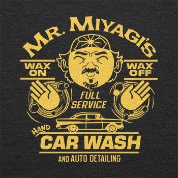 TEXLAB - Mr. Miyagi's Car Wash - Herren Langarm T-Shirt Schwarz
