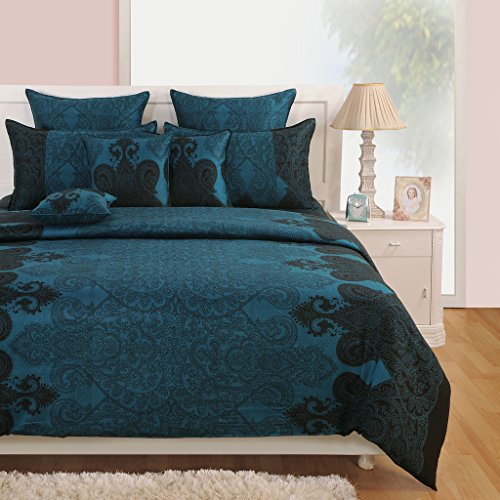 Yuga casa decorazione blu set di fogli letto King. Regina