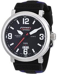 Formex 4 Speed TS725 - Reloj analógico de caballero de cuarzo con correa de silicona multicolor - sumergible a 100 metros