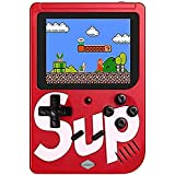 JIcson Colourful LCD Screen USB Rechargeable Portable Retro Battery Handheld Console Sup Port Video Game with 400 in 1 Classic Old Games