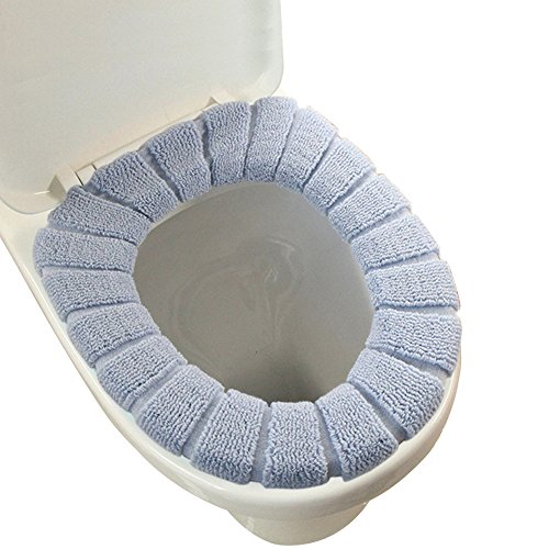 WC-Sitzbezug / Gewebe-WC-Sitz, weich, waschbar, Wärmer für WC, grau, L