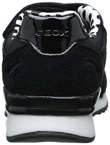 Geox Maisie G B, Baskets Basses Fille Noir (C9999)