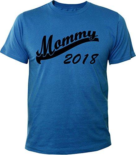 Mister Merchandise Herren Men T-Shirt Mommy 2018 Tee Shirt bedruckt Royal
