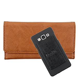 DooDa PU Leather Wallet Flip Case Cover With Card & ID Slots For Microsoft Lumia 540 - Back Cover Not Included Peel And Paste