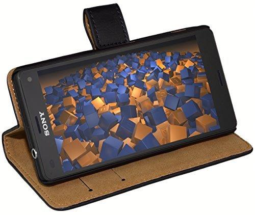 mumbi Ledertasche im Bookstyle für Sony Xperia Z3 Compact Tasche