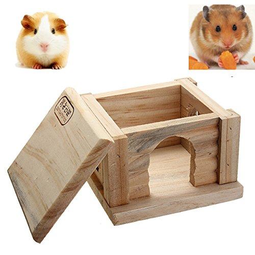 Tutoy Jouet En Bois Hamster Maison Chambre Naine Cage Rat Souris Gerbille Exercice Naturel