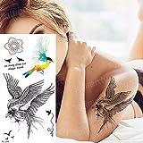 adgkitb 4 stücke Tattoo Hülse Frauen Tattoo Temporäre Aufkleber Körper Tattoos Anime Eule...